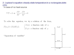 laplace s equation steady state temperature in a rectangular plate 2d