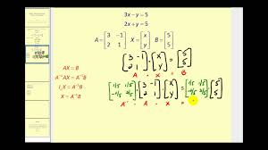 using a matrix equation to solve a system of equations