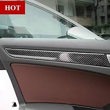 carbon fiber inner car door panel moulding trim cover for audi a4 b8 2009 2018
