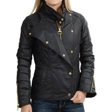 Barbour International Axle Biker Jacket Quilted Waxed