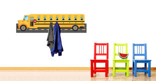 Nursery Coat Rack City School Bus Decal Coat Racks Dezign With A Z 48
