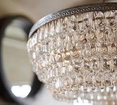 chandelier pottery barn pottery barn clarissa gl drop rectangular crystal 30 chandelier pottery