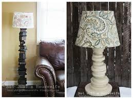 diy floor lamp stand with shelves hanging basket light fixture regarding diy table lamp ideas