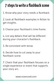 how to write a flashback scene 7 key steps now novel 7 steps for writing flashbacks