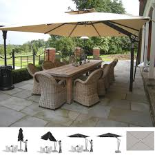 poggesi piazza commercial quality cantilever side arm parasols are the ultimate umbrellas operated with a very simple crank action