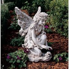 Kneeling Fairy Garden Statue  Gardener\u0027s Supply
