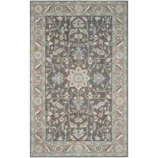 blossom dark gray light brown 6 ft x 9 ft area rug