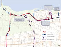 coming next week new & improved muni connections to vis valley Map Bus Route San Francisco 28 28r 43 route change map san francisco muni bus route map