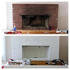 fireplace painting this week we are turning the red brick into a beautiful white brick fireplace