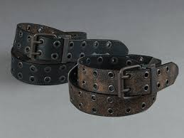 c red brand reversible brown to black leather grommet belt in patina finish
