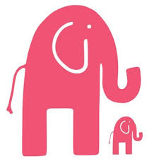 wall decor glenna jean ellie stretch elephant wall decals in pink set of on alabama elephant wall art with elephant wall decals from buy buy baby