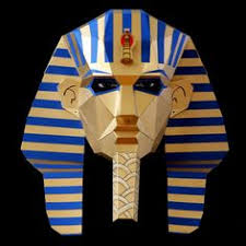 Card Masks To Decorate PHARAOH Mask Make your own Egyptian mask with card from PDF 94