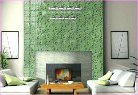 glass tile fireplace surround ideas modern tiled designs