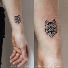 Animal Tattoos Geometric Wolf Tattoo Animal Small Tiny Ideas For
