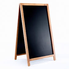 A Frame Sidewalk Chalkboard Sign With Rustic Wood Frame And Non Porous Magnetic Blackboard Surface Compatible With Liquid Chalk Markers For Large
