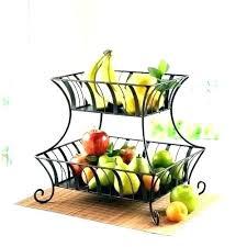 surpahs 2 tier countertop fruit basket stand holder two collec