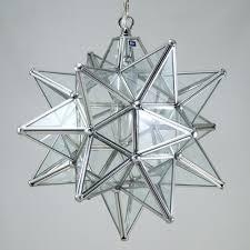 moravian star pendant light clear glass silver frame 12 duda inside ceiling idea 5
