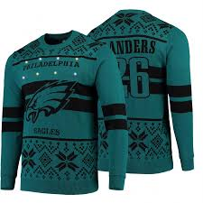 Philadelphia Eagles Sweater With Lights 2019 Ugly Christmas Miles Sanders Philadelphia Eagles Light