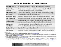 Access To Lethal Means Step By Step