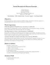 Skills For A Receptionist Resume Blaisewashere Com