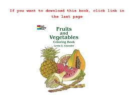 Small Picture Read Fruits and Vegetables Coloring Book PDF Free