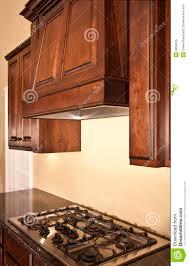 Range Hood Kitchen Modern Kitchen Cabinets Range Hood Royalty Free Stock Photo