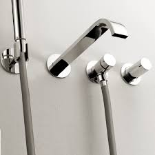 wall mount roman tub faucet stupefy amazing lacava arch with hand shower modern home ideas 5