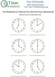 Time Math Worksheets with Clock Faces #6 | Time Worksheets OrgTo print this Time Math Worksheet. Please Click Here <<
