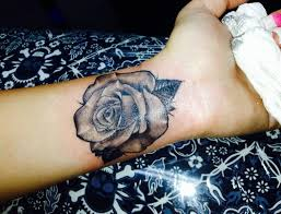 rose tattoo designs for wrist. Brilliant Rose Grey Rose Flower Tattoo On Left Wrist For Designs