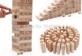 Wooden Brick Game Free shippingLarge beech toy 100pcs Jenga learning education wood 8