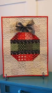 Best 25+ Mini quilts ideas on Pinterest | Quilted wall hangings ... & Ornament wall hanging quilt by Chocolate Dipped Quilts Adamdwight.com