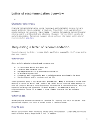 How To Ask For A Recommendation Letter Letter Of Recommendation Overview