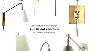 plug in wall sconce. Plug In Wall Sconce Sconces Lamp Industrial