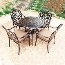 elegant white outdoor cast aluminium tulip fl bistro coffee table chairs set
