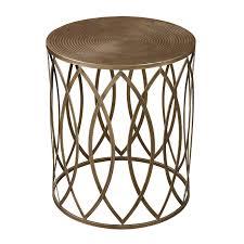 metal drum table gold leaf trellis side table threshold metal drum table metal drum table