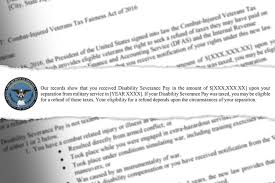letters were sent this month by the irs notifying 130 062 veterans that the federal agency might have improperly collected ta on their lump sum