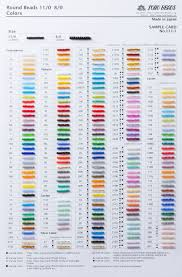 Bead Color Chart Toho Beads Color Charts For All Sizes And Shapes With