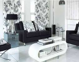 Black Wall Living Room Design Mesmerizing Black And White Living Room