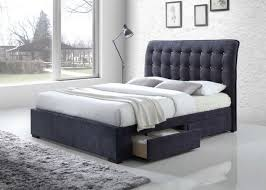 Eastern king mattress Cal King National Furniture Supply Acme Drorit Eastern King Bed With Storage Dark Gray Fabric 25677ek