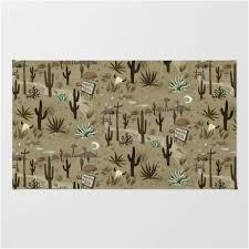 southwestern desert themed area rug
