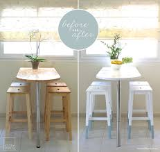 mini kitchen makeover paint dipped ikea chairs
