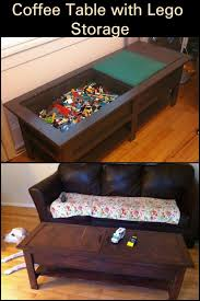 coffee table with lego storage diy