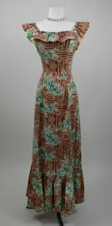 Hawaiian Dress Designers Reserved 1950s Tiki Print Hawaiian Dress Hawaiian Fashion