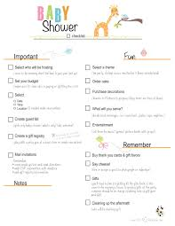 Sample Baby Shower Checklist Free Printable Baby Shower Checklist Paste The Link Below Into 3