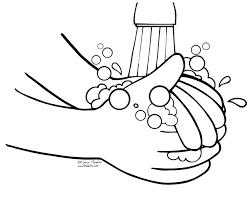 Hand clipart coloring page - Pencil and in color hand clipart ...