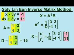 solving linear equations by inverse