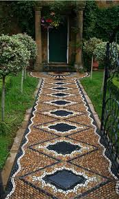 Small Picture Pathways Design Ideas for Home and Garden Mosaic walkway