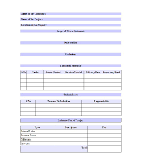 Deliverables Template 30 Ready To Use Scope Of Work Templates Examples