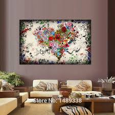 >new arrived modern wall art heart flowers painting on canvas canvas  52 65665 1 65665 32258013 26