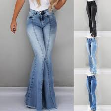 New Jeans Design For Girl 2019 2019 Women High Waist Flare Jeans Skinny Denim Pants Sexy Push Up Trousers Stretch Bottom Jean Female Casual Jeans